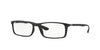 Ray-Ban Optical RX7035 Rectangle Eyeglasses  5204-MATTE BLACK 57-17-145 - Color Map black