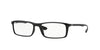 Ray-Ban Optical RX7035 Rectangle Eyeglasses  5206-BLACK 57-17-145 - Color Map black
