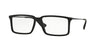 Ray-Ban Optical RX7043 Rectangle Eyeglasses  5364-RUBBER BLACK 52-14-140 - Color Map black