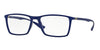 Ray-Ban Optical RX7049 Rectangle Eyeglasses  5439-MATTE BLUE 53-17-145 - Color Map blue
