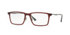 Ray-Ban Optical RX7050 Rectangle Eyeglasses  5456-DARK MATTE RED 54-18-140 - Color Map red