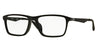 Ray-Ban Optical RX7056F Pillow Eyeglasses  2000-SHINY BLACK 55-17-145 - Color Map black
