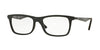 Ray-Ban Optical RX7062F Rectangle Eyeglasses  2077-MATTE BLACK 55-18-145 - Color Map black