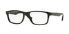Ray-Ban Optical RX7063F Rectangle Eyeglasses  2000-SHINY BLACK 54-18-145 - Color Map black