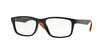 Ray-Ban Optical RX7063F Rectangle Eyeglasses  5417-SHINY BLACK 54-18-145 - Color Map black