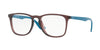 Ray-Ban Optical RX7074F Square Eyeglasses  5735-OPAL BORDEAUX 52-18-145 - Color Map bordeaux