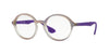 Ray-Ban Optical RX7075 Round Eyeglasses  5600-VIOLET GRADIENT/RUBBER 47-20-145 - Color Map violet