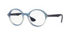 Ray-Ban Optical RX7075 Round Eyeglasses  5601-BLUE GRADIENT/ RUBBER 47-20-145 - Color Map blue