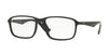 Ray-Ban Optical RX7084F Rectangle Eyeglasses  2000-SHINY BLACK 58-18-145 - Color Map black