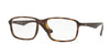 Ray-Ban Optical RX7084F Rectangle Eyeglasses  5577-SHINY HAVANA 58-18-145 - Color Map havana