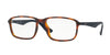 Ray-Ban Optical RX7084F Rectangle Eyeglasses  5585-LIGHT HAVANA 58-18-145 - Color Map havana