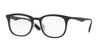Ray-Ban Optical RX7112 Square Eyeglasses  5682-BLACK/MATTE BLACK 53-20-145 - Color Map black