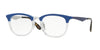 Ray-Ban Optical RX7112 Square Eyeglasses  5684-TRASPARENT/SHINY BLUE 53-20-145 - Color Map blue