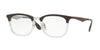 Ray-Ban Optical RX7112 Square Eyeglasses  5685-TRASPARENT/SHINY BROWN 53-20-145 - Color Map brown