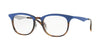 Ray-Ban Optical RX7112 Square Eyeglasses  5729-HAVANA TOP MATTE BLUE 53-20-145 - Color Map blue