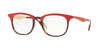 Ray-Ban Optical RX7112 Square Eyeglasses  5730-HAVANA RED TOP MATTE RED 53-20-145 - Color Map havana