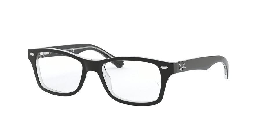 Ray-Ban Junior Vista RY1531 Square Eyeglasses  3529-TOP BLACK ON TRANSPARENT 48-16-130 - Color Map black