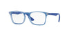 Ray-Ban Junior Vista RY1553 Square Eyeglasses  3668-RUBBER ELETTRIC BLUE 48-16-130 - Color Map blue