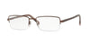 Sferoflex SF2261 Rectangle Eyeglasses  355-MATTE - DARK BROWN 54-18-145 - Color Map brown
