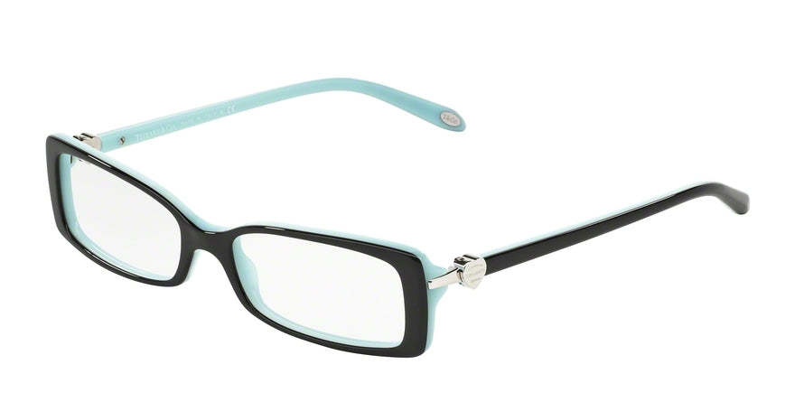 Tiffany TF2035 Rectangle Eyeglasses  8055-TOP BLACK/BLUE 50-16-135 - Color Map black