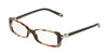Tiffany TF2035 Rectangle Eyeglasses  8212-DARK HAVANA SPOTTED BLUE 50-16-135 - Color Map havana