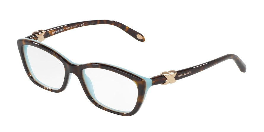Tiffany TF2074 Cat Eye Eyeglasses  8216-HAVANA/BLUE 52-16-135 - Color Map havana