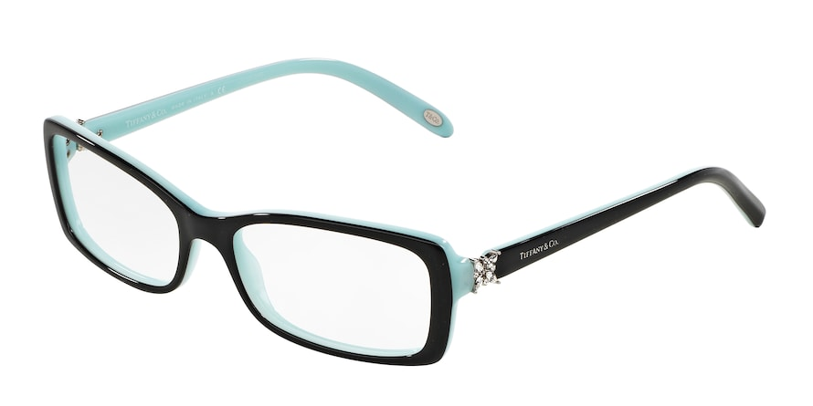 Tiffany TF2091B Rectangle Eyeglasses  8055-TOP BLACK/BLUE 53-16-140 - Color Map black