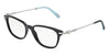 Tiffany TF2096H Square Eyeglasses  8001-BLACK 52-17-140 - Color Map black