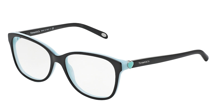 Tiffany TF2097 Square Eyeglasses  8055-BLACK/BLUE 52-16-135 - Color Map black