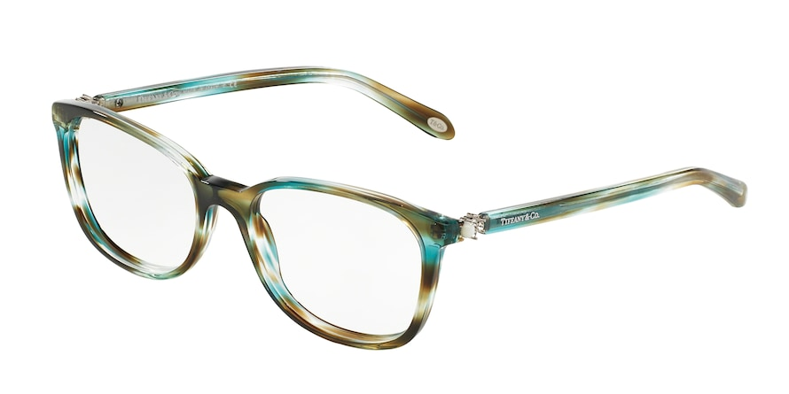 Tiffany TF2109HB Square Eyeglasses  8124-OCEAN TURQUOISE 53-17-140 - Color Map green
