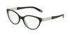 Tiffany TF2129 Oval Eyeglasses  8055-BLACK/BLUE 51-17-140 - Color Map black