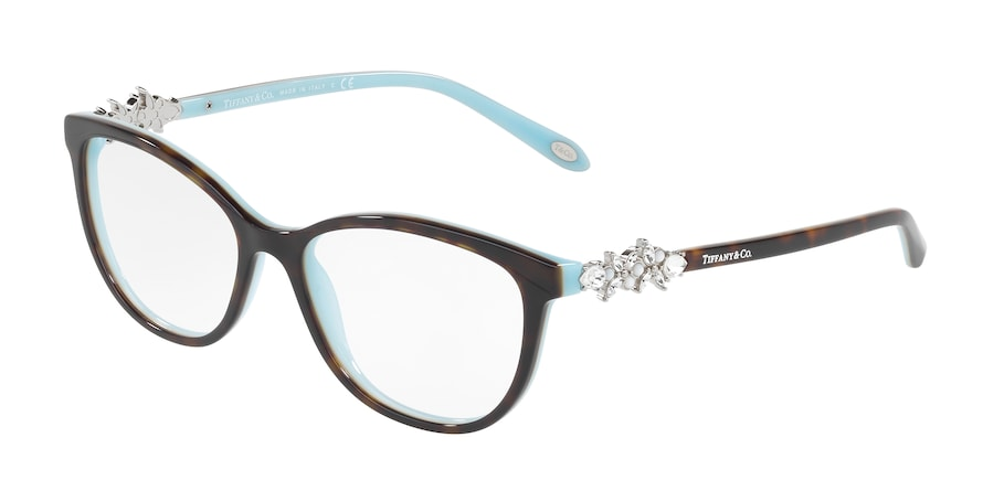 Tiffany TF2144HB Cat Eye Eyeglasses  8134-HAVANA/BLUE 54-16-140 - Color Map havana