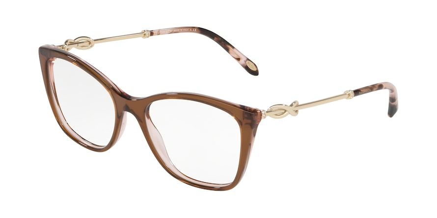 Tiffany TF2160B Square Eyeglasses  8255-BROWN/GREY/PINK 54-17-140 - Color Map brown