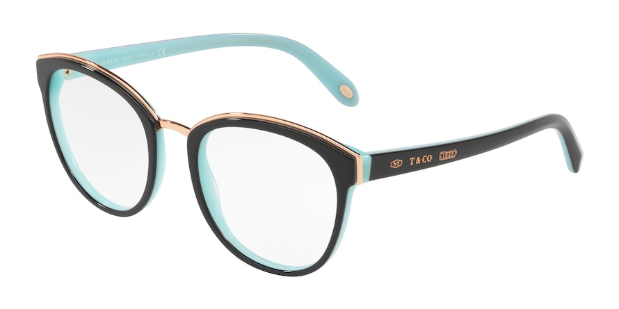 Tiffany TF2162 Phantos Eyeglasses  8055-BLACK/BLUE 53-20-145 - Color Map black