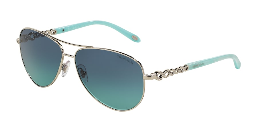 Tiffany TF3049B Pilot Sunglasses  60019S-SILVER 58-12-140 - Color Map silver