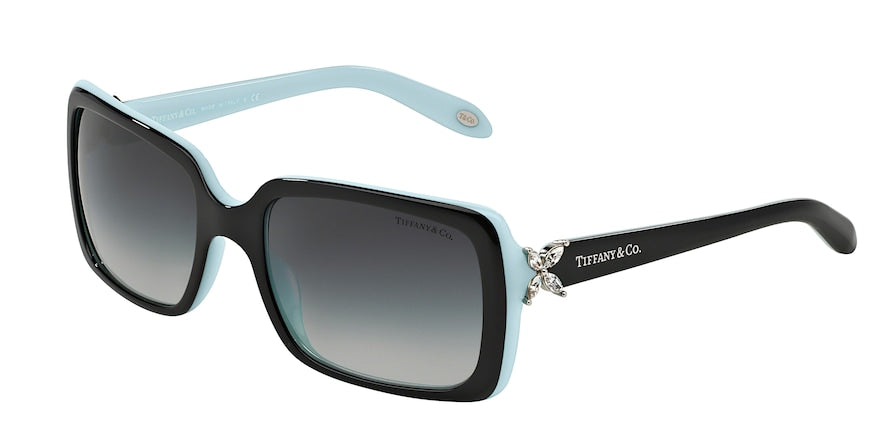 Tiffany TF4047B Rectangle Sunglasses  80553C-TOP BLACK ON AZURE 55-19-130 - Color Map black