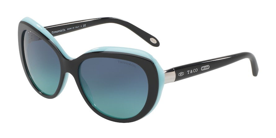 Tiffany TF4122 Irregular Sunglasses  80559S-BLACK/BLUE 56-16-140 - Color Map black