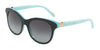 Tiffany TF4125 Round Sunglasses  81633C-BLACK/SHOT/BLUE 52-18-140 - Color Map black