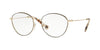 Valentino VA1003 Oval Eyeglasses  3003-PALE GOLD BLACK 53-17-135 - Color Map black