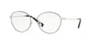 Valentino VA1003 Oval Eyeglasses  3011-SILVER BLACK 53-17-135 - Color Map black