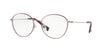 Valentino VA1003 Oval Eyeglasses  3012-GUNMETAL RED 53-17-135 - Color Map light brown