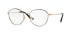 Valentino VA1003 Oval Eyeglasses  3031-ROSE GOLD BLUE 53-17-135 - Color Map blue