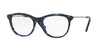 Valentino VA1006 Oval Eyeglasses  3005-GUNMETAL/HAVANA BLUE 53-18-140 - Color Map blue