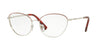 Valentino VA1010 Butterfly Eyeglasses  3032-SILVER RED 57-17-140 - Color Map red