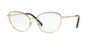 Valentino VA1010 Butterfly Eyeglasses  3034-LIGHT GOLD BLUE 57-17-140 - Color Map blue