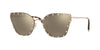 Valentino VA2028 Butterfly Sunglasses  30035A-LIGHT GOLD 59-17-140 - Color Map grey