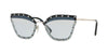 Valentino VA2028 Butterfly Sunglasses  300672-SILVER 59-17-140 - Color Map light blue