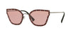 Valentino VA2028 Butterfly Sunglasses  301284-GUNMETAL RED 59-17-140 - Color Map red