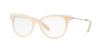 Valentino VA3005 Cat Eye Eyeglasses  5029-TOP POUDRE BEIGE ON CRYSTAL 51-17-135 - Color Map brown