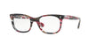 Valentino VA3010 Rectangle Eyeglasses  5039-STRIPED PINK HAVANA 52-20-140 - Color Map pink
